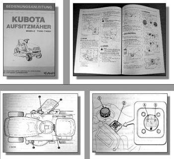 Kubota T1400 T1400H Rasenmäher Betriebsanleitung