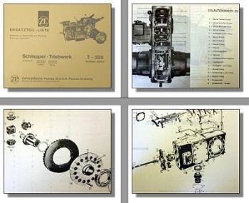 ZF T-325 Ersatzteilliste Triebwerk Getriebe