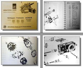 ZF A-210 III Bedienunganleitung Montage & Ersatzteilliste