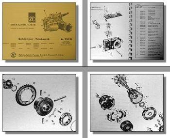 ZF A-210 III Ersatzteilliste Bedienung & Montage