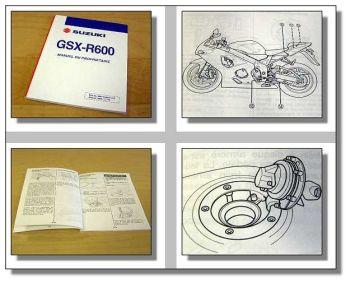 Suzuki GSX-R600 manual de proprietaire Fahrerhandbuch