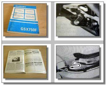 Suzuki GSX750F Motorrad Betriebsanleitung 1992
