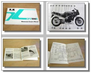 Kawasaki GPZ500S Motorcycle Owner´s Manual 90iger Jahre