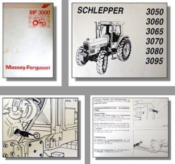 Massey Ferguson 3050, 3060, 3065, 3070, 3080, 3095 Traktor Betriebsanleitung