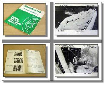 Werkstatthandbuch Honda CB400F2 NC07 CBX500F2 PC04 Ergänzung 1982