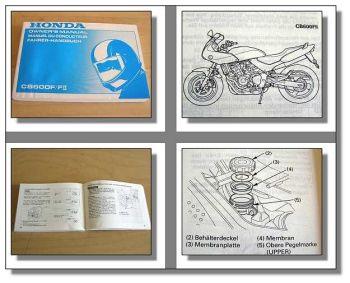 Honda CB600F / FII Motorrad Betriebsanleitung 1999 Owners Manual