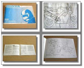 Honda CBR600 F2 Motorrad Bj. 1992 Betriebsanleitung