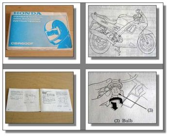 Honda CBR 600F Motorrad Betriebsanleitung Owners Manual Instruktieboek