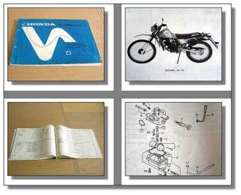 Honda MTX50S Parts List Ersatzteilliste 1985