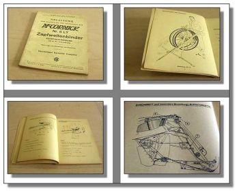 Mc Cormick IHC Zapfwellenbinder 6LT Bedienung ETL 1941