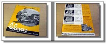Claas Patent - Strohbinder Prospekt 1939