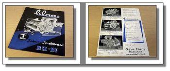 Claas Bubi Bu Bi Patent Strohpresse Prospekt 1939